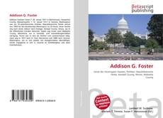 Bookcover of Addison G. Foster