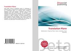Bookcover of Translation Plane