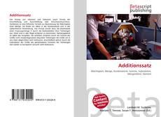 Buchcover von Additionssatz