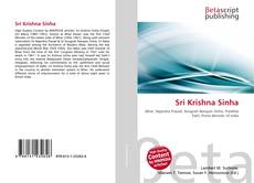 Bookcover of Sri Krishna Sinha