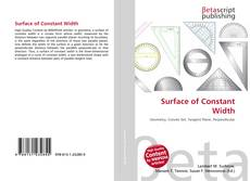 Bookcover of Surface of Constant Width