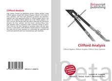 Bookcover of Clifford Analysis