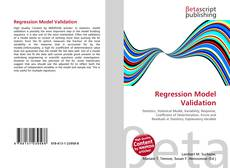 Bookcover of Regression Model Validation