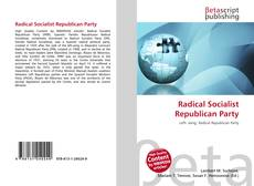 Bookcover of Radical Socialist Republican Party