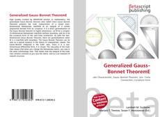Couverture de Generalized Gauss–Bonnet TheoremE