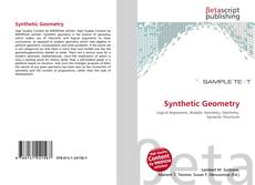 Bookcover of Synthetic Geometry