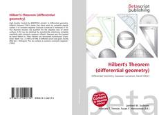 Bookcover of Hilbert's Theorem (differential geometry)