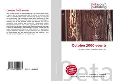 Bookcover of October 2000 events