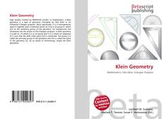 Bookcover of Klein Geometry