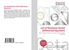 Bookcover of List of Nonlinear Partial Differential Equations