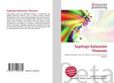 Обложка Szpilrajn Extension Theorem