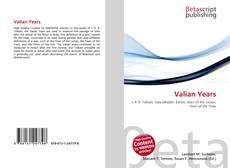 Valian Years kitap kapağı