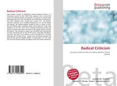 Обложка Radical Criticism