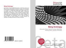 Bookcover of Rényi Entropy