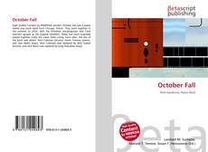 Bookcover of October Fall
