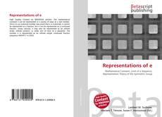 Buchcover von Representations of e