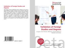 Copertina di Validation of Foreign Studies and Degrees