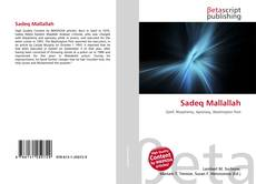 Capa do livro de Sadeq Mallallah