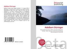Bookcover of Adelbert Düringer