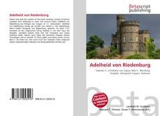 Обложка Adelheid von Riedenburg