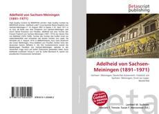 Capa do livro de Adelheid von Sachsen-Meiningen (1891–1971)