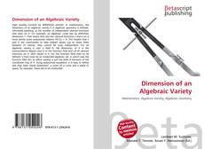 Bookcover of Dimension of an Algebraic Variety