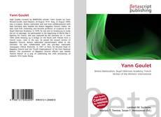Couverture de Yann Goulet
