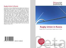 Bookcover of Rugby Union in Russia