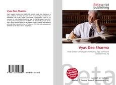 Bookcover of Vyas Deo Sharma