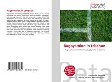 Copertina di Rugby Union in Lebanon
