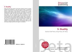 Bookcover of S- Duality