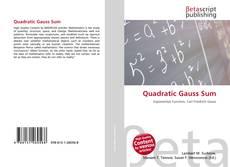 Bookcover of Quadratic Gauss Sum