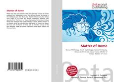 Bookcover of Matter of Rome