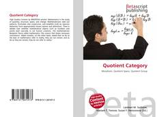 Bookcover of Quotient Category