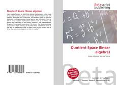 Bookcover of Quotient Space (linear algebra)