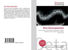 Ricci Decomposition kitap kapağı