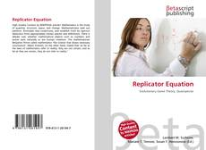 Bookcover of Replicator Equation