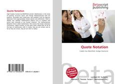 Bookcover of Quote Notation