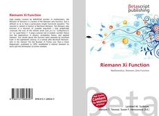 Portada del libro de Riemann Xi Function