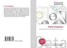 Bookcover of Form Constant