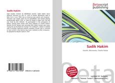 Capa do livro de Sadik Hakim