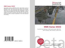 Bookcover of HMS Vanoc (H33)