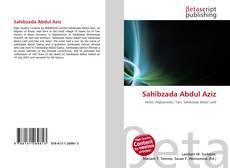 Bookcover of Sahibzada Abdul Aziz