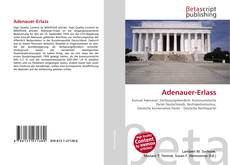 Bookcover of Adenauer-Erlass