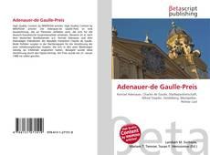 Bookcover of Adenauer-de Gaulle-Preis