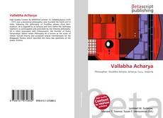 Bookcover of Vallabha Acharya