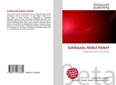 Bookcover of Sahibzada Abdul Haleef