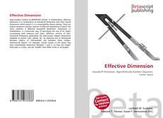 Portada del libro de Effective Dimension