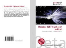 Bookcover of October 2007 Clashes in Hakkari