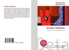 Bookcover of October Rebellion